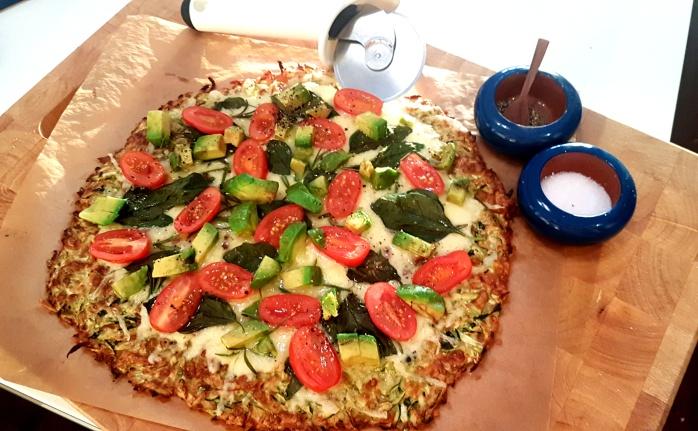 Zucchini Crusted Pizza